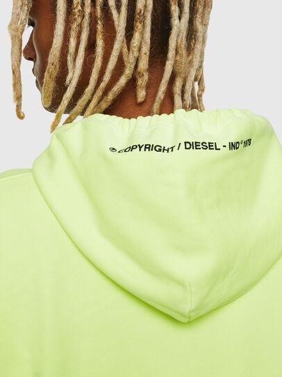Diesel - S-ALBY-FLUO, Jaune Fluo - Pull Cotton - Image 6