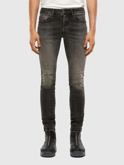 Diesel - Sleenker 009JF, Noir/Gris foncé - Jeans - Image 1