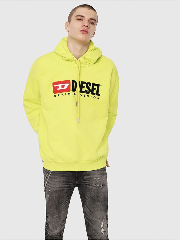 S-DIVISION, Yellow Fluo - Sweatshirts