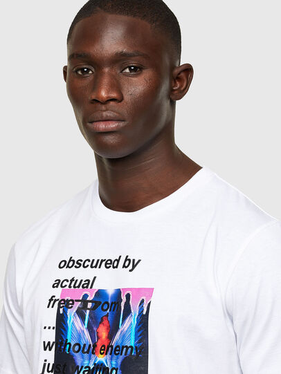 Diesel - T-JUST-A43, Blanc - T-Shirts - Image 3