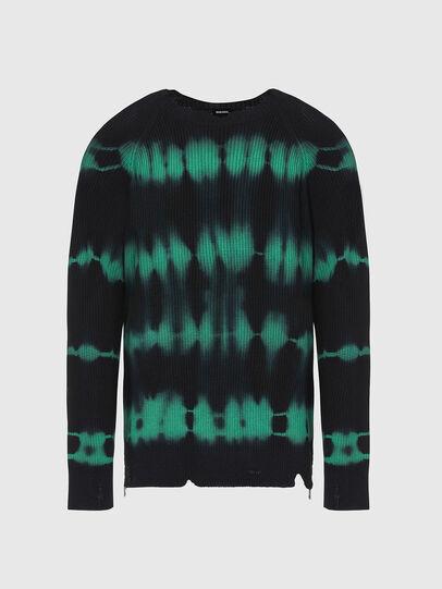 Diesel - K-TONI, Black/Green - Sweaters - Image 1
