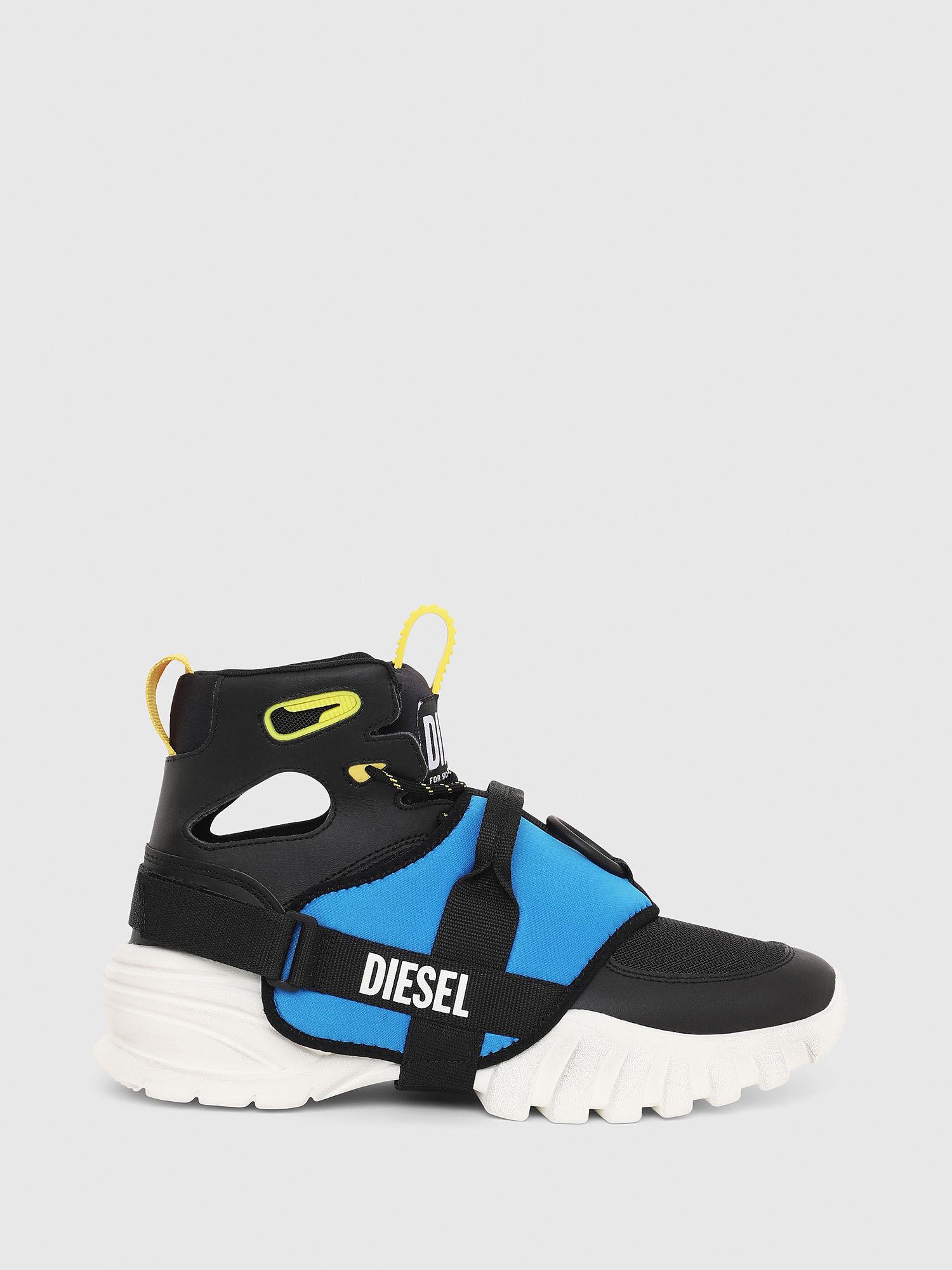 Sneakers montantes avec guêtre