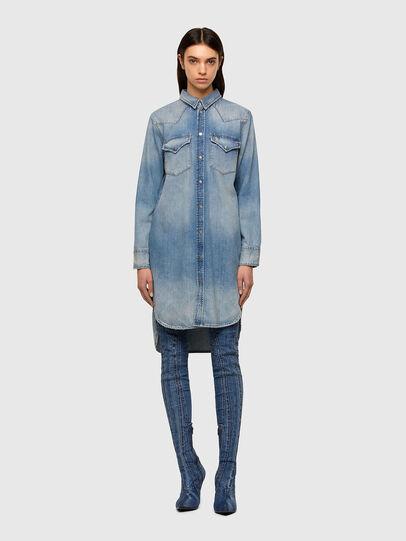 Diesel - DE-BLANCHE, Bleu Clair - Robes - Image 1