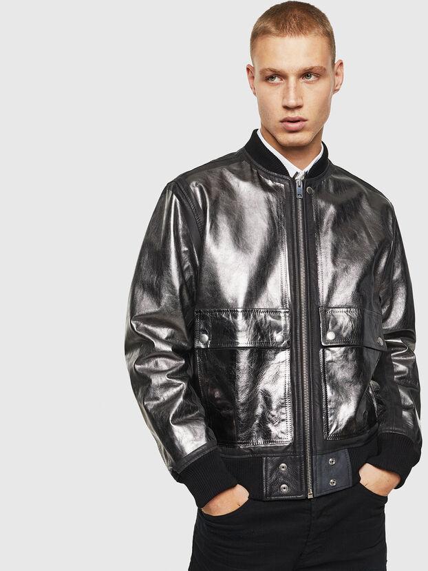 L-STEWARD-FOIL, Noir - Vestes de cuir
