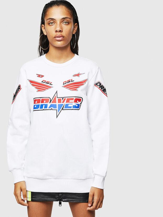 ASTARS-F-GIR-A-FL, Blanc - Pull Cotton