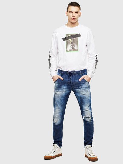 Diesel - Krooley JoggJeans 0099S, Dark Blue - Jeans - Image 5