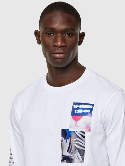 Diesel - T-JUST-LS-A10, Blanc - T-Shirts - Image 3
