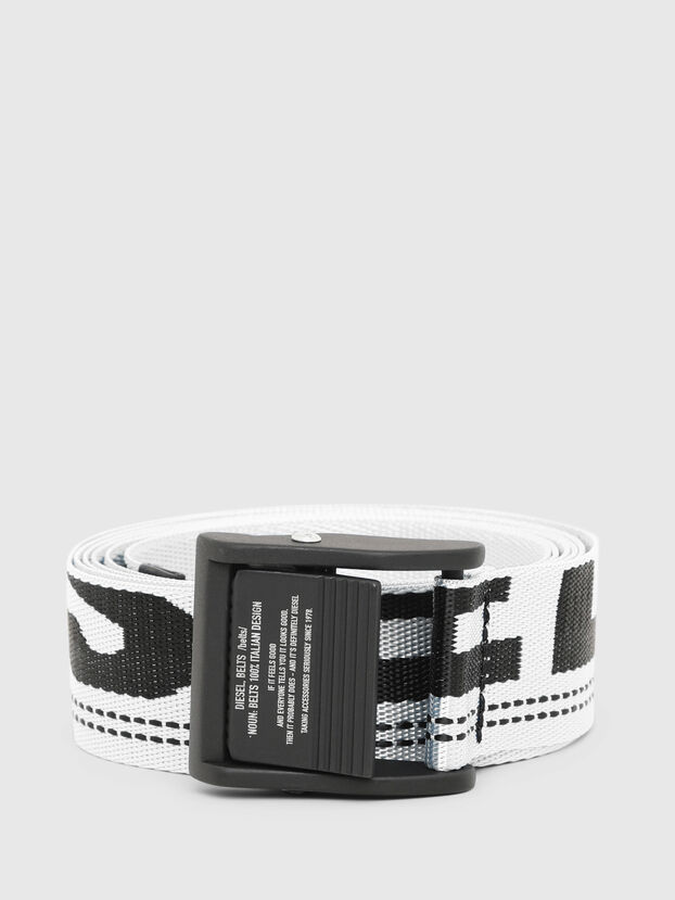 B-MASER, White/Black - Belts
