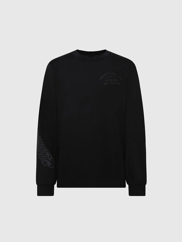 T-JUST-LS-X91, Noir - T-Shirts