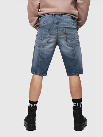 Diesel - KROOSHORT JOGGJEANS, Bleu Clair - Shorts - Image 2