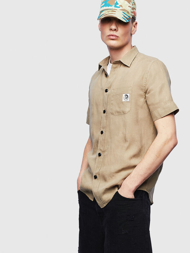 S-KIRUMA-B, Beige - Shirts