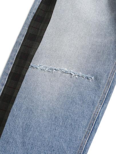 Diesel - D-DEEPCHECKDENIM, Light Blue - Pants - Image 4