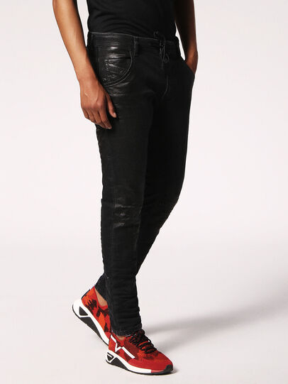 Diesel - Krooley JoggJeans 084JB, Noir/Gris foncé - Jeans - Image 3