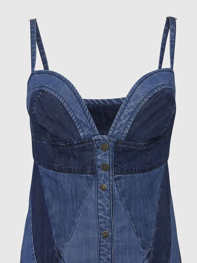 Diesel - DE-ARYNA, Bleu Clair - Robes - Image 4