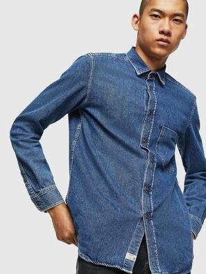 D-BER-P, Bleu moyen - Chemises en Denim