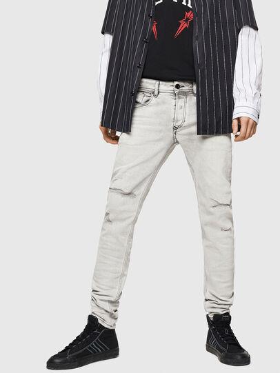 Diesel - Sleenker 0090F, Gris Clair - Jeans - Image 4