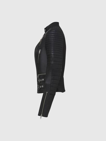 Diesel - L-IGE-NEW, Noir - Vestes de cuir - Image 3