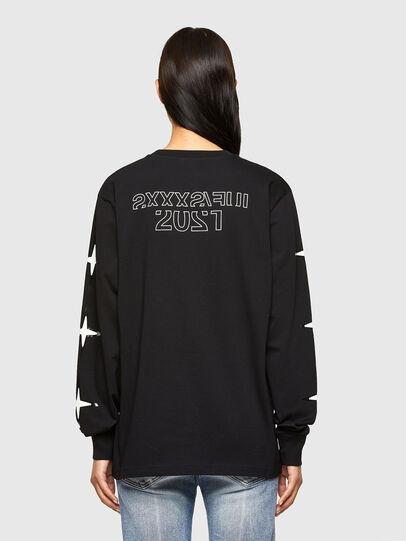 Diesel - CL-T-JUST-LS-O, Noir - T-Shirts - Image 4