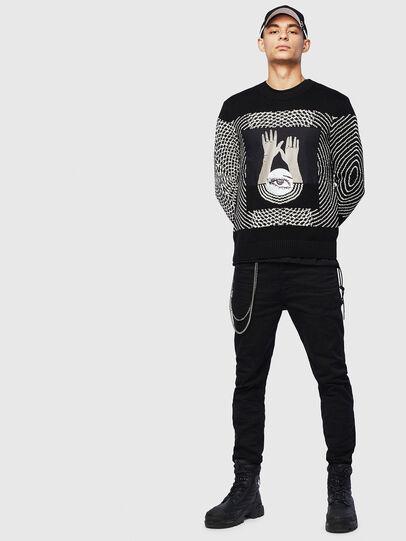 Diesel - K-OCCHY, Black - Sweaters - Image 6