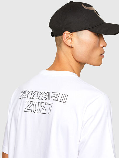 Diesel - CL-T-JUST-O1, Blanc - T-Shirts - Image 5
