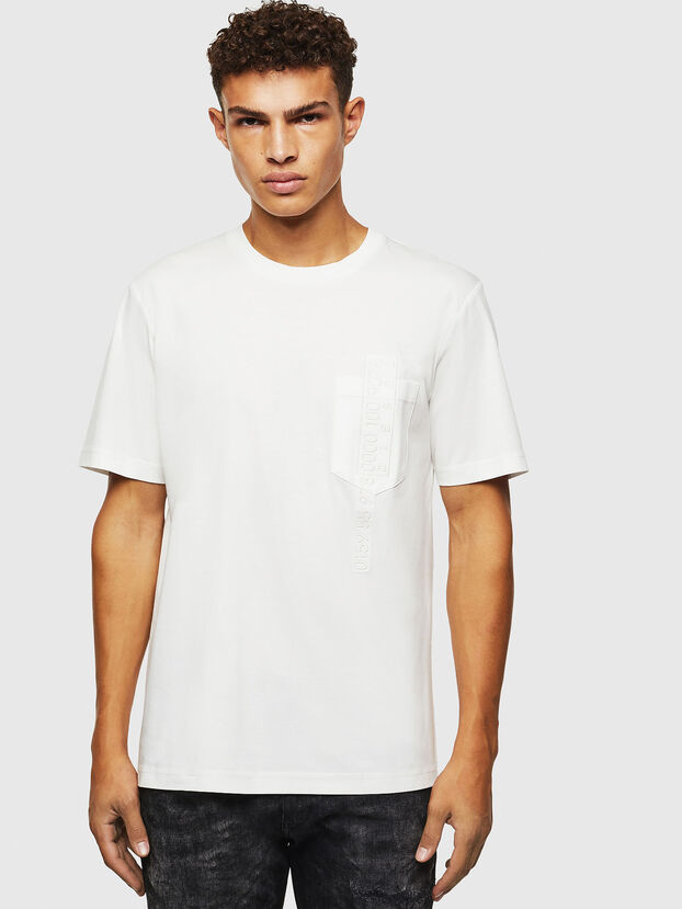 T-JUST-POCKET-J1, Blanc - T-Shirts