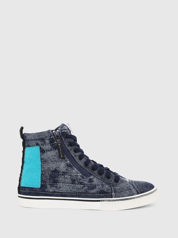 D-VELOWS MID PATCH, Bleu - Baskets