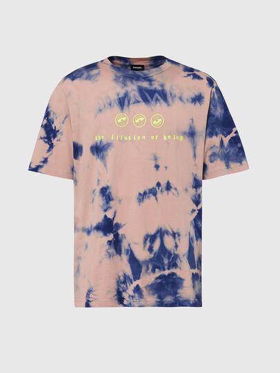 Diesel - T-JUST-SLITS-X86, Rose/Bleu - T-Shirts - Image 1