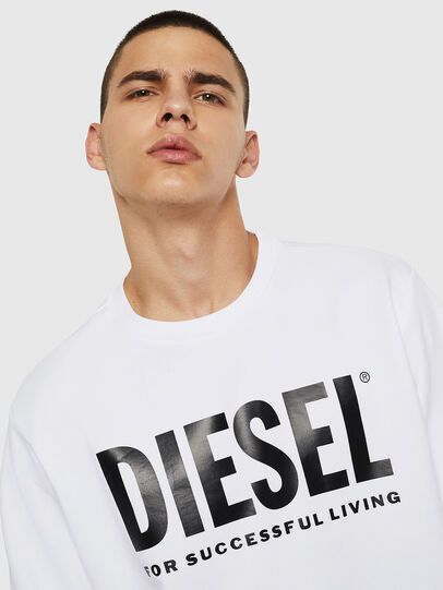 Diesel - S-GIR-DIVISION-LOGO, White - Sweatshirts - Image 5