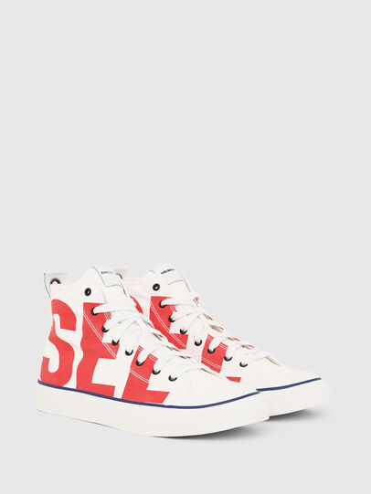 Diesel - S-ASTICO MC, Blanc/Rouge - Baskets - Image 2