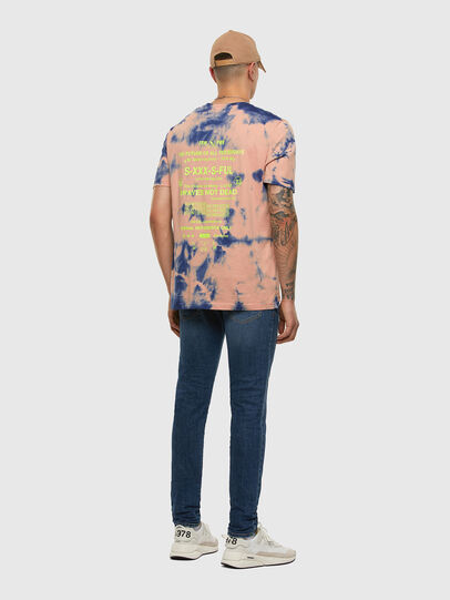 Diesel - T-JUST-SLITS-X86, Rose/Bleu - T-Shirts - Image 6