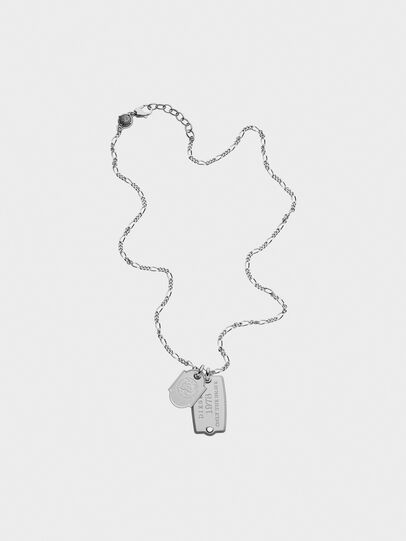Diesel - DX1132, Silver - Necklaces - Image 1