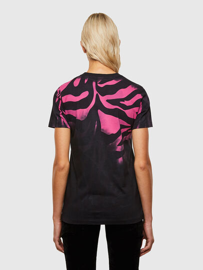 Diesel - T-SILY-R3, Noir/Rose - T-Shirts - Image 2