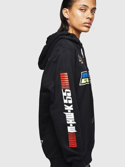 Diesel - ASTARS-F-GIR-HOOD-FL, Black - Sweatshirts - Image 3