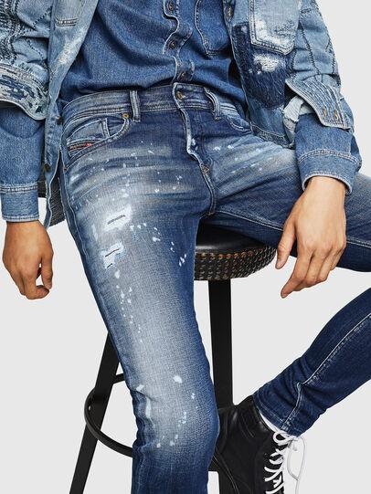 Diesel - Sleenker 0091Y, Bleu moyen - Jeans - Image 3