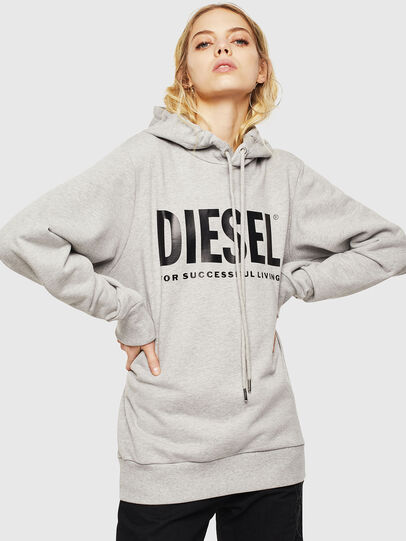 Diesel - S-GIR-HOOD-DIVISION-, Gris - Pull Cotton - Image 2