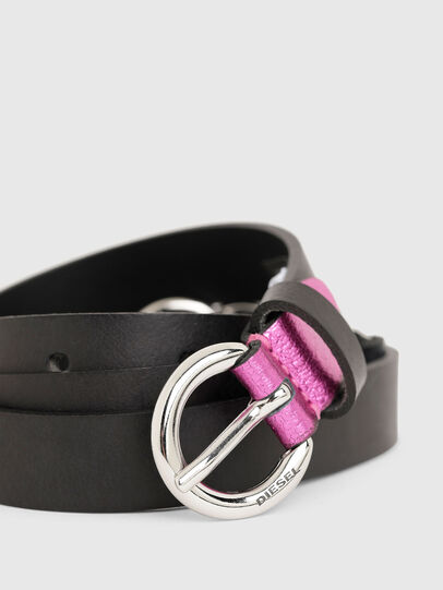 Diesel - B-OLIMP, Black/Pink - Belts - Image 2