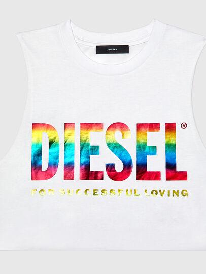 Diesel - BFOWT-MUSCLE-ROUNDIE, Blanc - Haut - Image 3