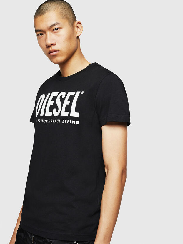 T-DIEGO-LOGO, Noir - T-Shirts