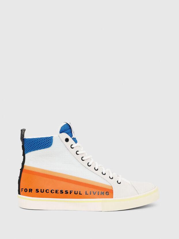 S-DVELOWS MID, Blanc/Orange - Baskets