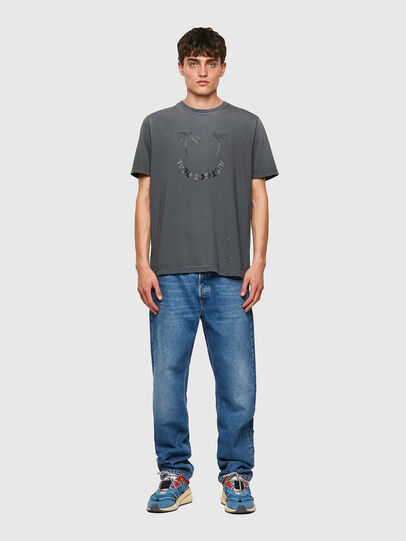 Diesel - T-JUST-B64, Gris - T-Shirts - Image 4