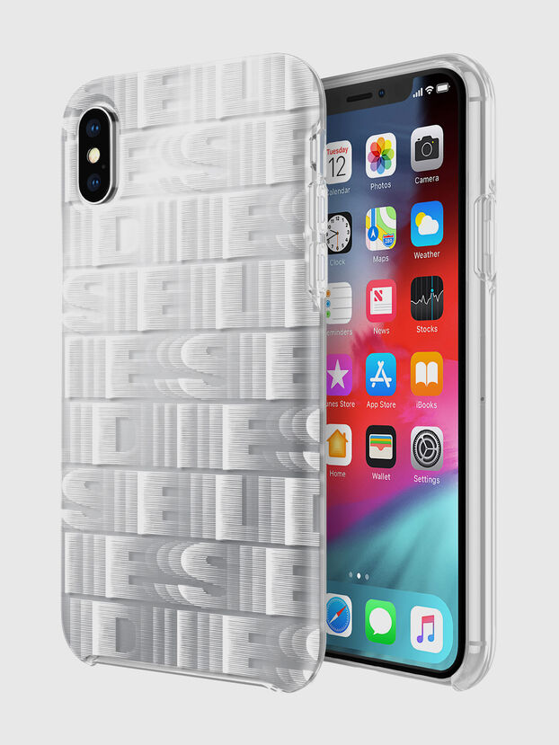 DIESEL PRINTED CO-MOLD CASE FOR IPHONE XS & IPHONE X, Blanc - Coques