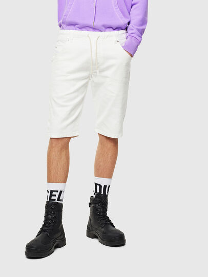 Diesel - D-KROOSHORT JOGGJEANS, Blanc - Shorts - Image 1