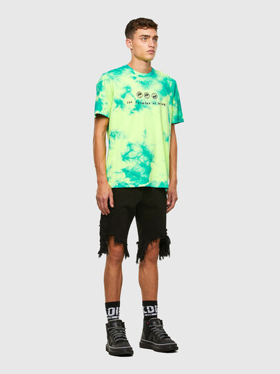 Diesel - T-JUST-SLITS-X86, Green/Yellow - T-Shirts - Image 5