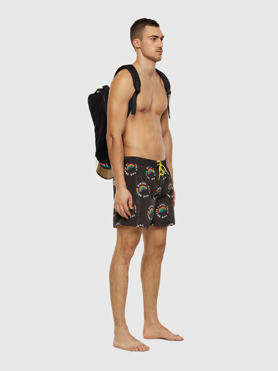 Diesel - BMBX-WAVE 2.017-P, Black - Swim shorts - Image 5