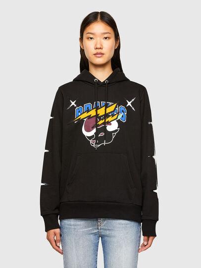 Diesel - CL-S-GIRK-HOOD-O1, Black - Sweatshirts - Image 2