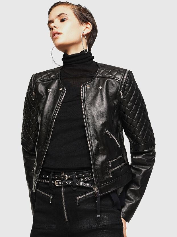 LIVIA, Noir - Vestes de cuir