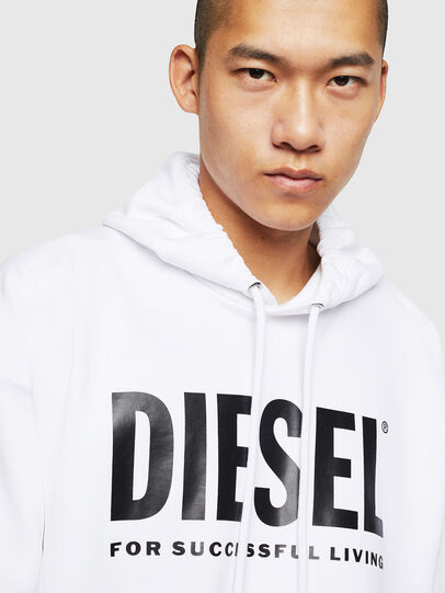 Diesel - S-DIVISION-LOGO, White - Sweatshirts - Image 3
