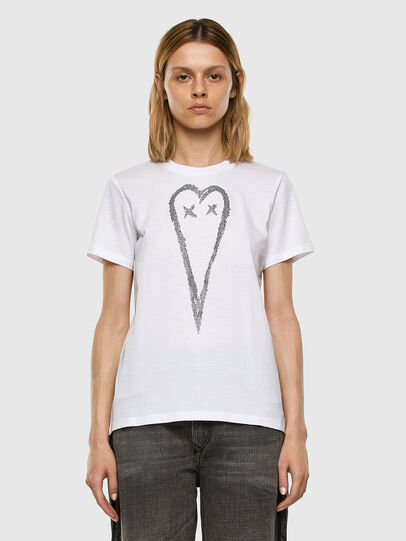 Diesel - T-SILY-E53, Blanc - T-Shirts - Image 5