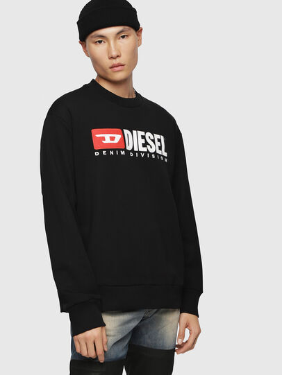 Diesel - S-CREW-DIVISION, Black - Sweatshirts - Image 1