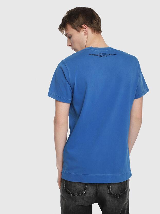 T-SHOJI, Bleu Brillant - T-Shirts